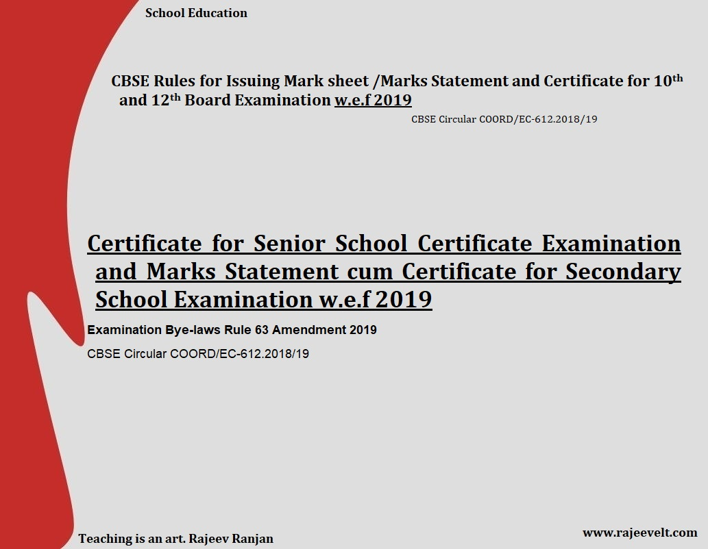 cbse certificate and marksheet for class X XII rajeev ranjan. 0