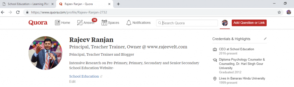 rajeev ranjan profile on quora.com