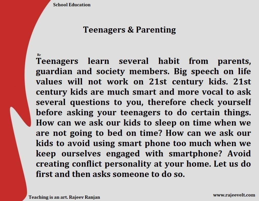 teenagers parenting tips rajeev ranjan life values. 1