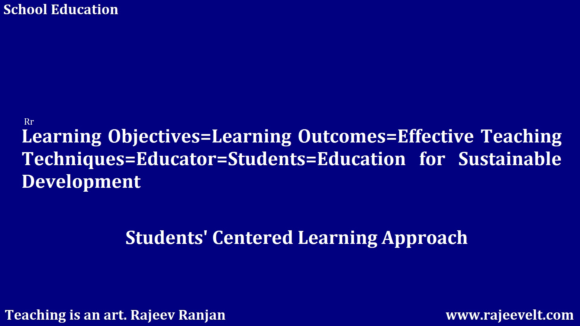 Students' Centered Learning Approach