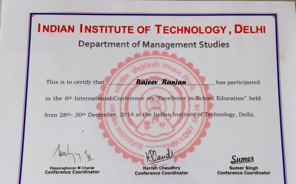 Excellence in School Education-Rajeev Ranjan
