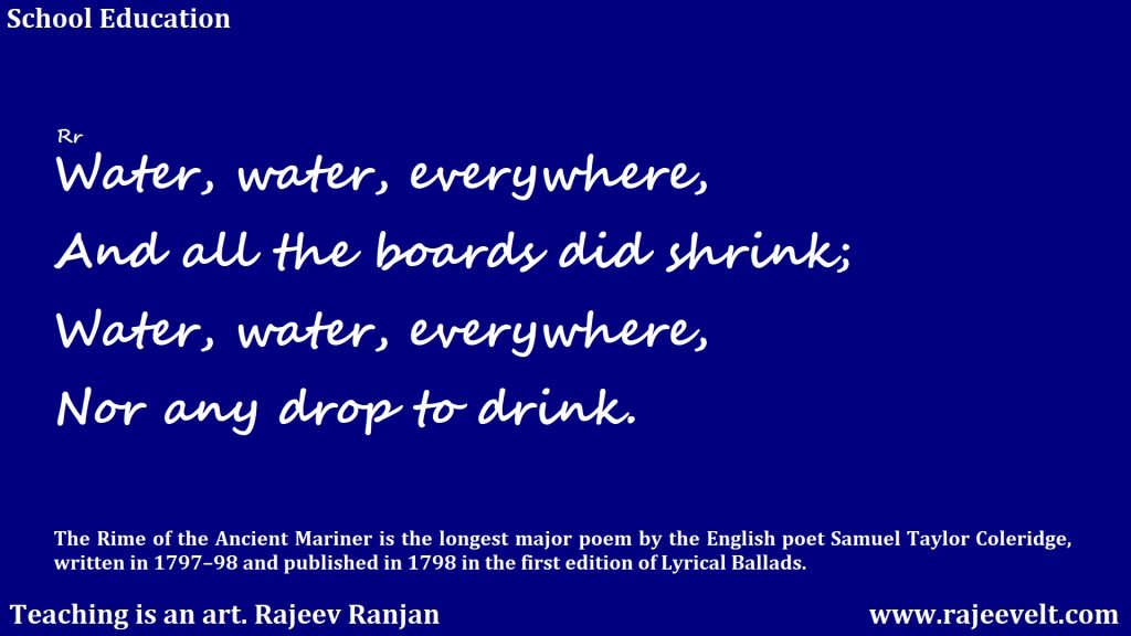 save water save life -rajeev ranjan