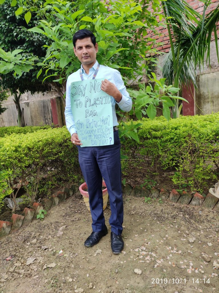 Rajeev Ranjan- School Education -Say no to Plastic Carry Bag -