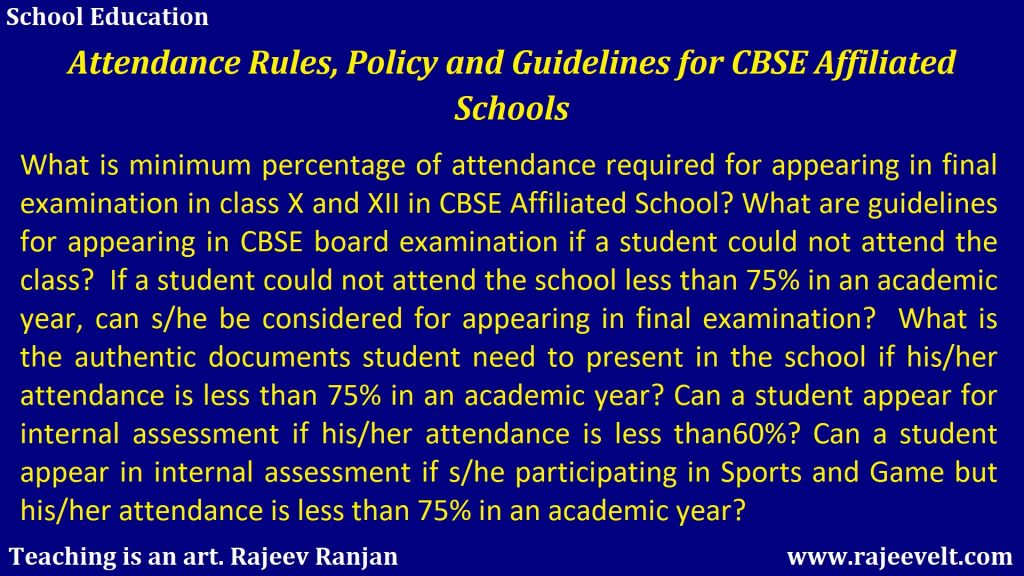 cbse attendance rules for class 10 and 12-School Education