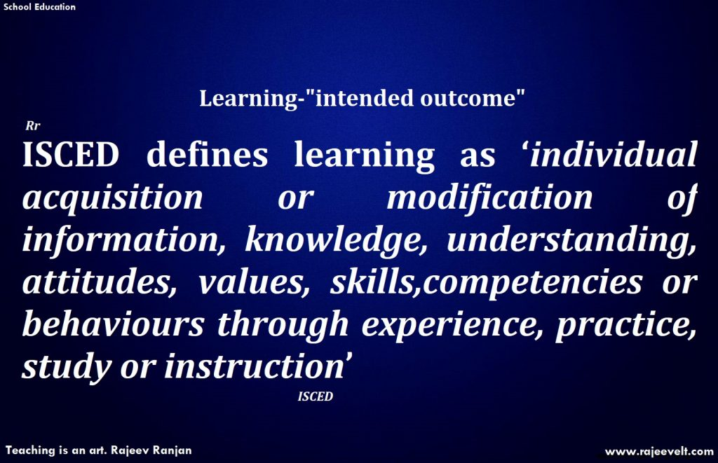 learners-learning-experiential learning- School Education