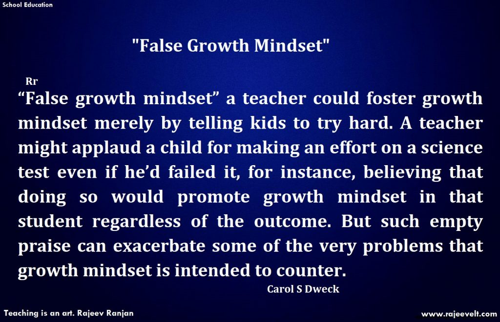 What is false growth Mindset