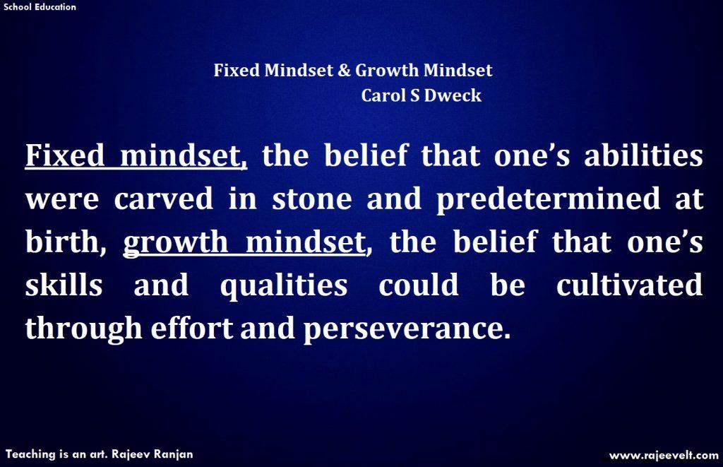 Fixed Mindset and Growth Mindset