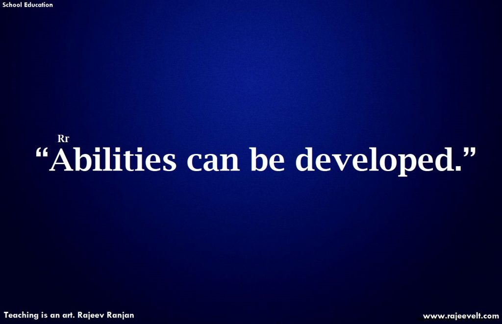 Abilities -Growth Mindset