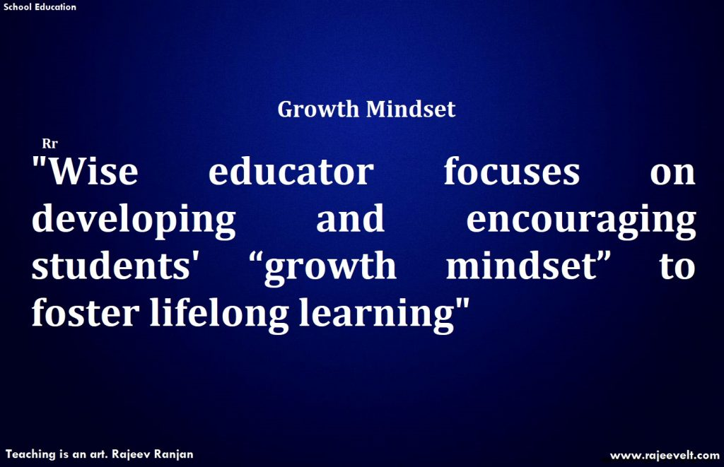 teachers role in developing growth mindset