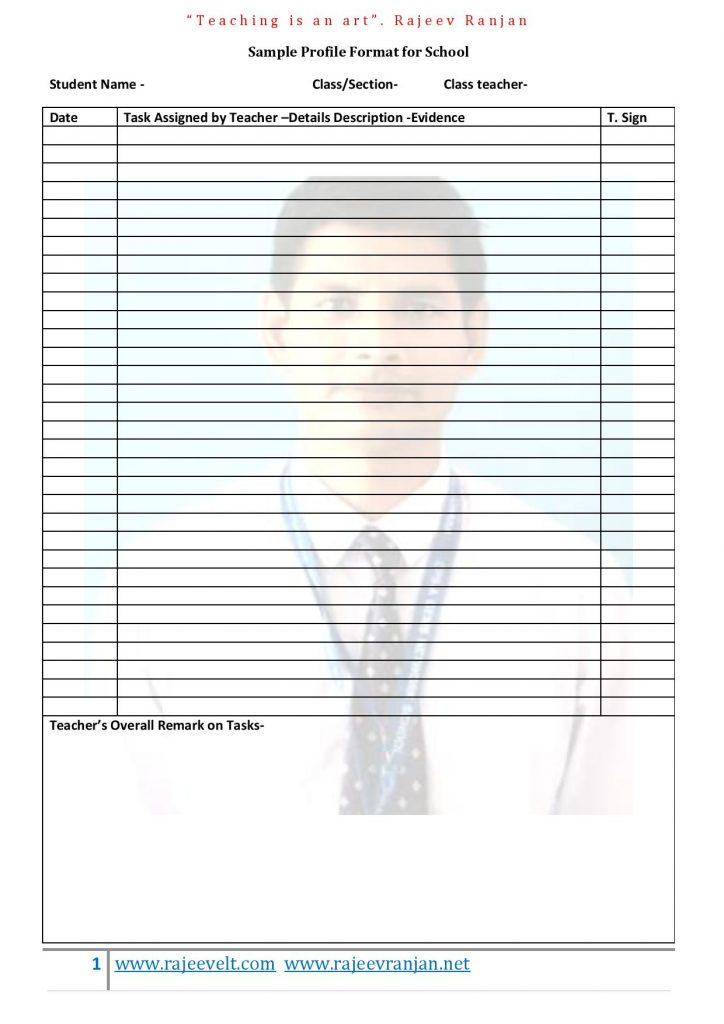 Student- Portfolio- Sample-Format
