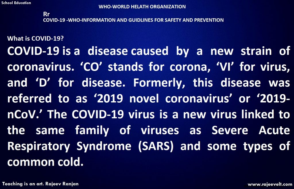 WHAT IS COVID 19?