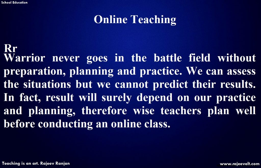 Online Teaching Tips -Rajeev Ranjan