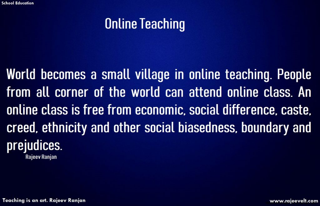 Online Teaching -Rajeev Ranjan