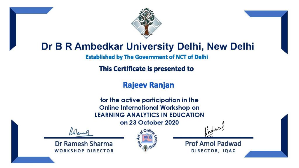Learning Analytics in Education _Rajeev RanjaN