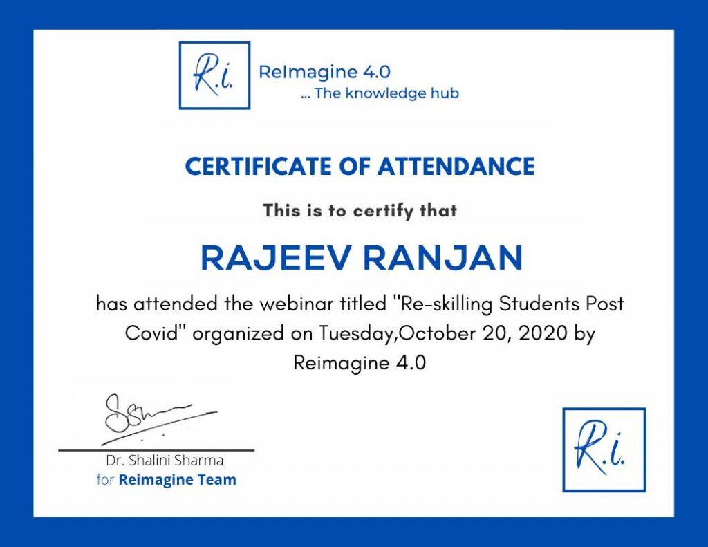Reskilling Students Post COVID-Rajeev-Ranjan