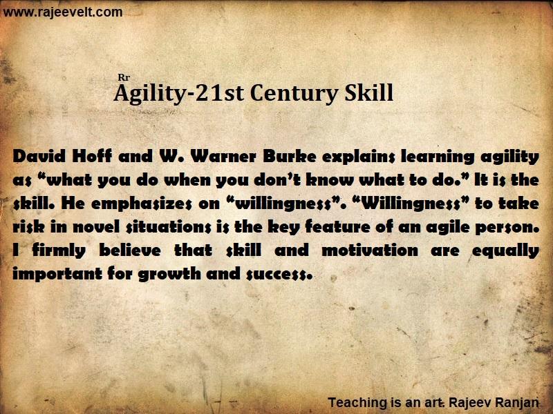 agility skill-21st Century Skill- Rajeevelt