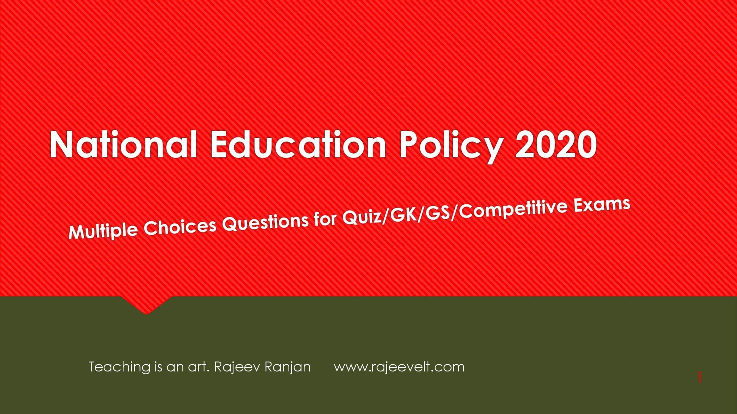MCQs-FAQs on National Education Policy 2020-Set-2-rajeevelt