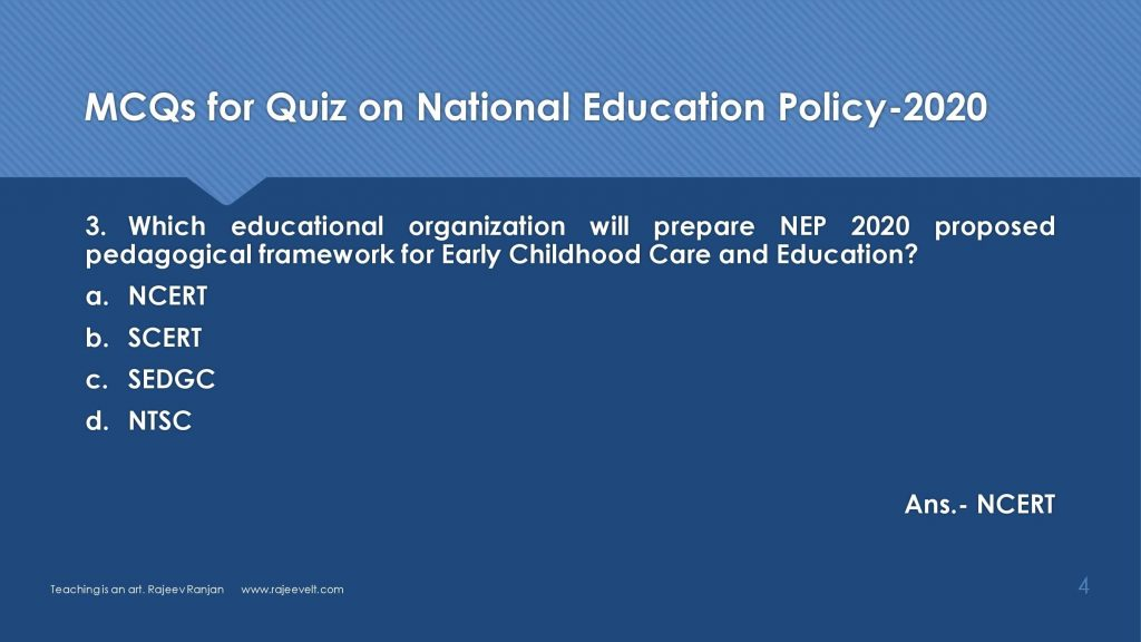MCQs-FAQs on National Education Policy 2020-Set-3-rajeevelt