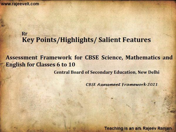 (CBSE Assessment Framework 2021-rajeevelt