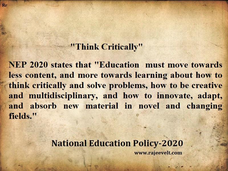 National education policy 2020-Rajeevelt