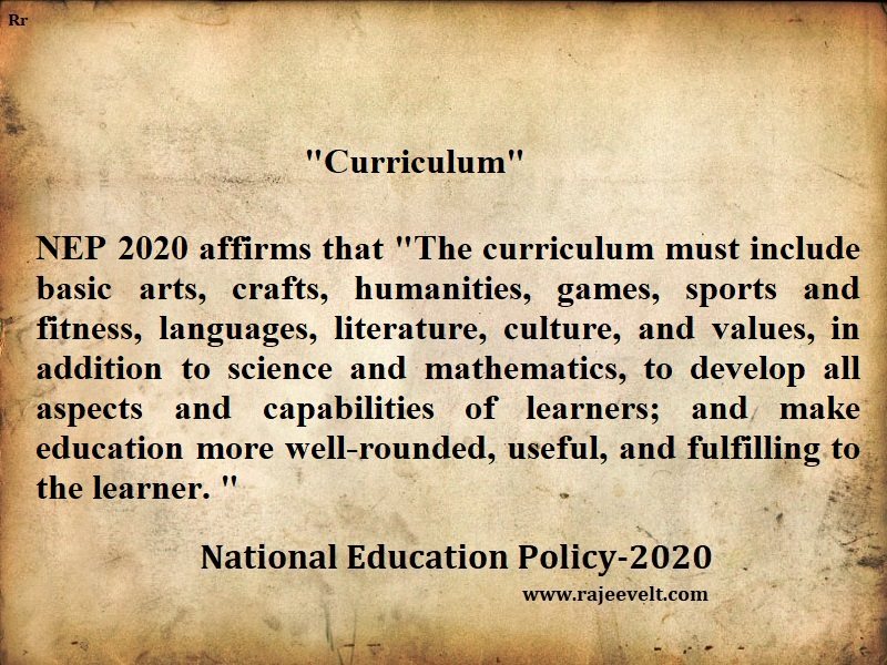 National Education Policy Quotes-rajeevelt