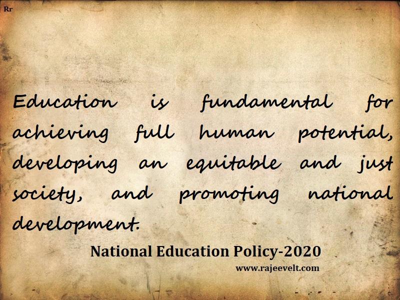 national education policy -rajeevelt
