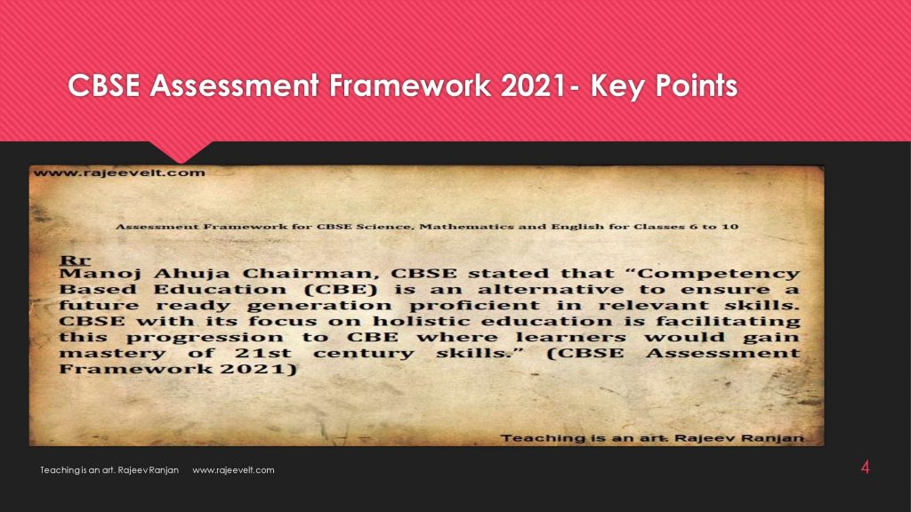 Assessment Framework for CBSE Science, Mathematics and English for Classes 6 to 10