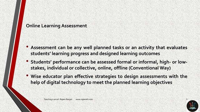 Online Learning Assessment