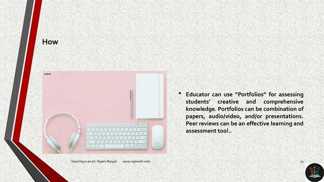 Portfolios-Online Learning Assessment