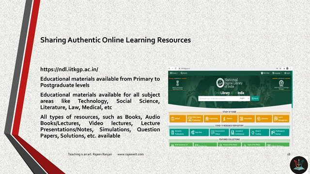 Online Learning Resource Sharing with Students-Rajeevelt